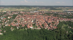 Rothenburg aerial Stock Footage