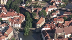 Bamberg aerial Stock Footage