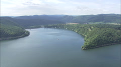 Edersee Dam Stock Footage