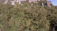 Crimea Ghosts Valley Mountain. Drone rises, the camera shoots the mountain. Stock Footage
