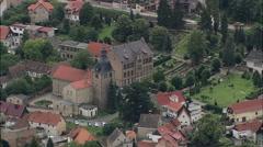 Gernrode aerial Stock Footage