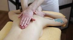 Man's hands doing massage Stock Footage
