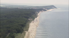 Beach Approaching Kolpinsee Stock Footage