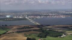 Stralsund aerial Stock Footage
