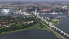 Old And New Bridges At Stralsund Stock Footage