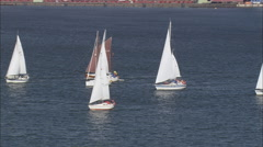 Yachts Racing On Strelasund Stock Footage