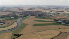 River Weser And Hoya Stock Footage