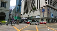 Tsim Sha Tsui, Hong Kong- July 2016: Busy city in Hong Kong Stock Footage