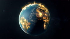 Earth on fire Stock Footage