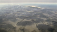 East Frisian Islands And Sand Bars Stock Footage