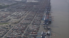 Bremerhaven Container Port Stock Footage