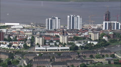 Bremerhaven aerial Stock Footage