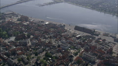 Nykobing aerial Stock Footage