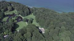 Liselund aerial Stock Footage