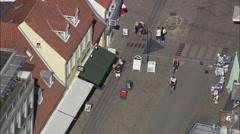 Roskilde aerial Stock Footage