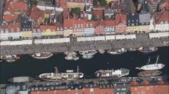 Copenhagen - Nyhavn Stock Footage