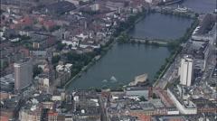 Copenhagen - The Lakes Stock Footage