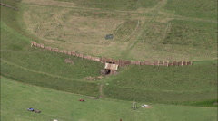 Trelleborg Viking Settlement Stock Footage