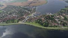 Skaelskor aerial Stock Footage