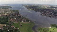 Svendborg aerial Stock Footage