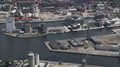 Odense aerial Stock Footage