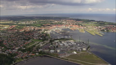 Nyborg And Old Ferry Port Stock Footage