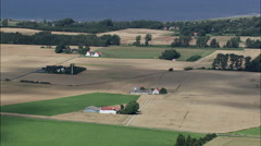 Slagelse And Surrounding Farms Stock Footage