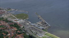 Ebeltoft aerial Stock Footage
