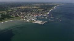 Strandby aerial Stock Footage