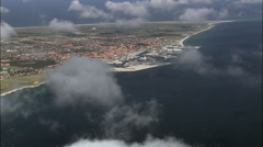 Descending To Skagen Area Stock Footage