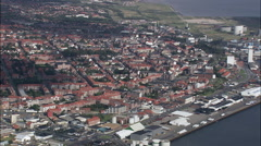 Esbjerg aerial Stock Footage