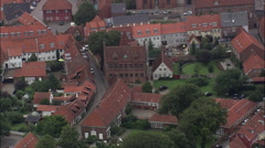 Ribe aerial Stock Footage