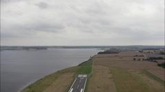 Sonderborg aerial - stock footage