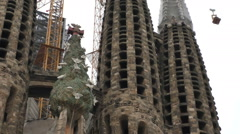 View Sagrada Familia Barcelona Stock Footage