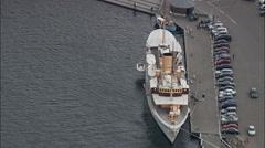 Royal Danish Yacht Stock Footage