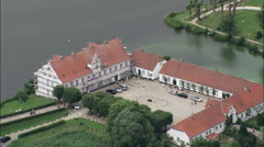 Glucksburg Slot (Danish Royal House Now In Germany) Stock Footage