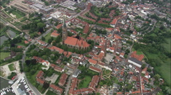 Schleswig aerial Stock Footage