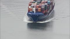 Ships On Kiel Canal Stock Footage