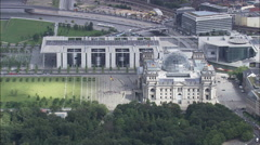 Reichstag aerial Stock Footage