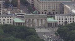 Tiergarten aerial Stock Footage