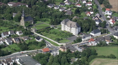 Manor House And Church In Mulheim Stock Footage