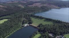 Sorpe Dam Stock Footage
