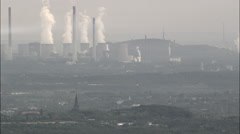 Heavy Industry Around Duisburg Stock Footage