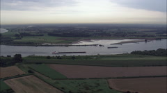 Barges On The Rhine Stock Footage