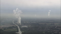 Power Station At Hagem Stock Footage