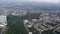 Dusseldorf aerial Stock Footage