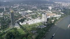 Bonn aerial Stock Footage