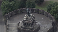 German Corner And Statue Of Emperor Wilhelm I Stock Footage