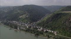 Stahleck Castle Stock Footage
