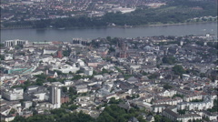 Mainz aerial Stock Footage